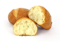 Broken bread roll Royalty Free Stock Photo