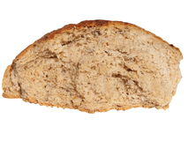 Broken bread on white Royalty Free Stock Image