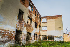 Broken Brick House Stock Image