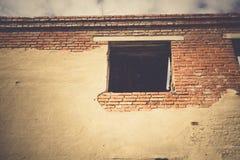 Broken Brick House Windows Filtered Stock Photography