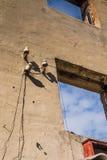 Broken Brick House Windows Stock Photos
