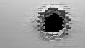 Broken Brick Wall Royalty Free Stock Images