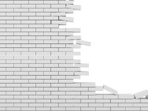 Broken Brick Wall Royalty Free Stock Photography