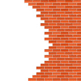 Broken brick wall Royalty Free Stock Photo