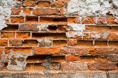 Broken brick wall Royalty Free Stock Image