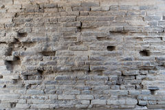 Broken brick wall. Abstract background royalty free stock photography