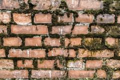 Broken brick wall background Abstract red brick old wall texture background stock image