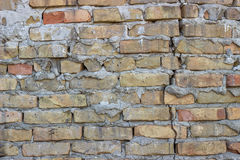 Broken brick wall background 2 Stock Images