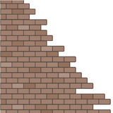 Broken brick wall background Royalty Free Stock Image