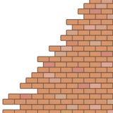 Broken brick wall background Stock Image