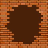 Broken brick wall background Royalty Free Stock Photos