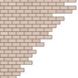 Broken brick wall background Royalty Free Stock Image