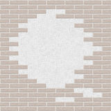 Broken Brick wall background Stock Photos