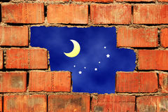 Broken brick wall Stock Image