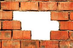 Broken brick wall Royalty Free Stock Photos