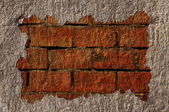 Broken brick wall frame Royalty Free Stock Photo