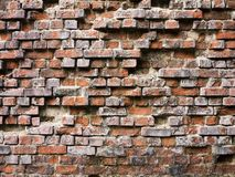 Broken brick wall Royalty Free Stock Photography