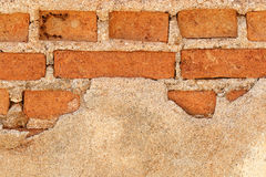 Broken brick wall for pattern Royalty Free Stock Images
