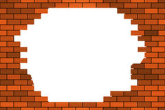 Broken Brick Wall Seamless Background Of The Abstract Stock Images