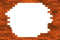 Broken brick wall Stock Images