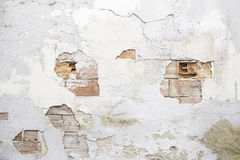 Broken Brick Wall. Urban building, construction Royalty Free Stock Photo