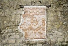 Broken Brick Wall. Urban building, construction Royalty Free Stock Photos