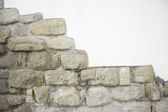 Broken Brick Wall. Urban building, construction Stock Photos