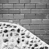 Broken Brick Wall. Urban building, construction Royalty Free Stock Images