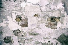 Broken Brick Wall. Urban building, construction Stock Photography