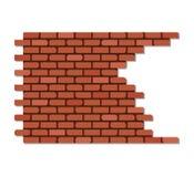 Broken brick wall. Vector illustration of broken brick wall Royalty Free Stock Photos