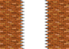 Broken brick wall. Vector illustration Royalty Free Stock Image
