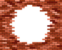 Broken brick wall,. Vector illustration  background Stock Image