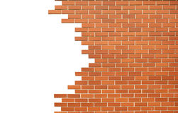 Broken brick wall Royalty Free Stock Images