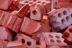 Broken bricks Royalty Free Stock Photo