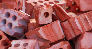 Broken bricks Stock Images
