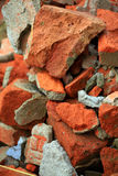 Broken bricks background Royalty Free Stock Photography