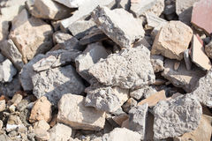 Broken bricks on construction site as background Stock Images