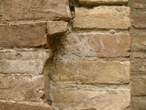 Broken bricks in old wall Royalty Free Stock Images