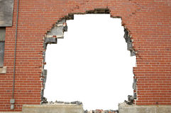 Broken brickwall background Stock Image