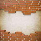 Broken brickwall background Royalty Free Stock Image