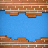Broken brickwall background Stock Images