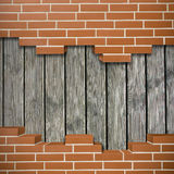 Broken brickwall background Royalty Free Stock Photo