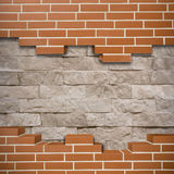 Broken brickwall background Stock Photos