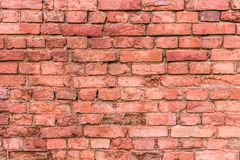 Broken brickwork from old red brick