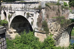 The Broken Bridge in Rome Stock Photo
