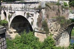 The Broken Bridge in Rome Stock Photo