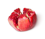 Broken Bright Ripe Delicious Juicy Pomegranate Rotated Royalty Free Stock Photo