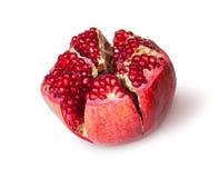 Broken Bright Ripe Delicious Juicy Pomegranate Royalty Free Stock Photography