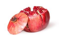 Broken Bright Ripe Juicy Pomegranate With Lid Near Royalty Free Stock Photo
