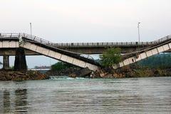 Broken bro Arkivbild